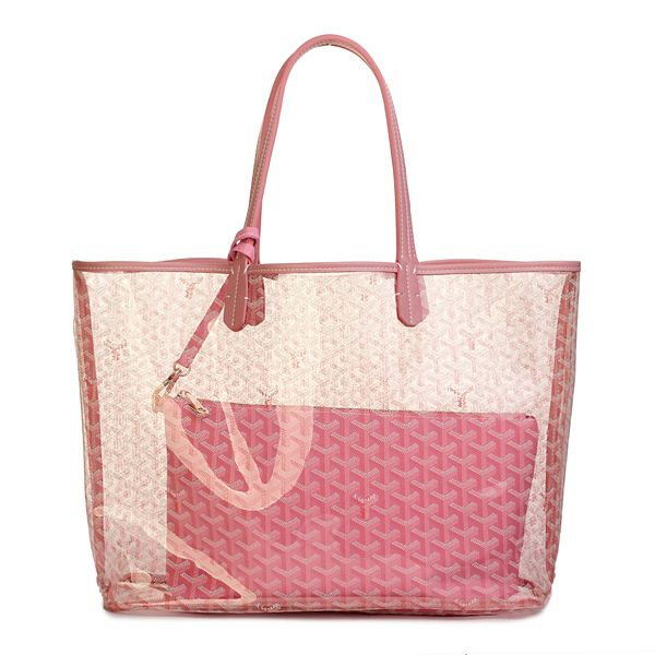 Goyard Transparent Beach PM Tote Handbag Pink