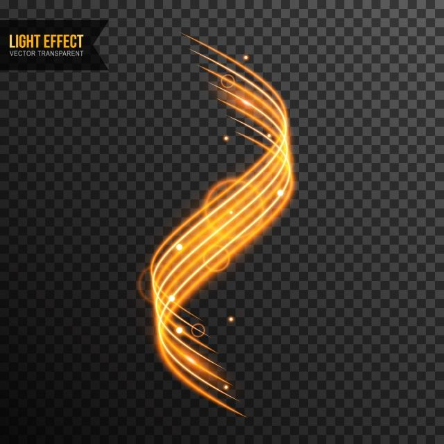 Light Effect Vector Transparent With Line Swirl And Golden Sparkles Sparkle Png Graphic Design Background Templates Light Bulb Icon