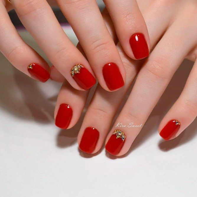 Best 20 Chic Red Nail Designs 2018 With Images Red Nail