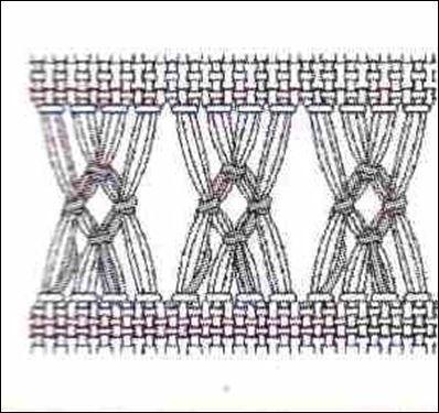 030 Broderie-Ajurare incrucisata