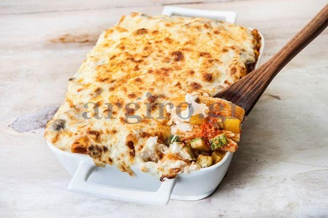 Παστίτσιο λαχανικών με κρέμα μανιταριών