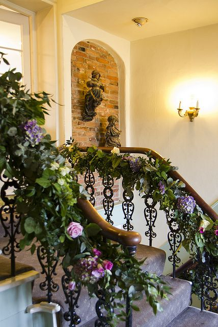 First Floor bannisters with floral wedding garlands | Flickr - Photo Sharing!