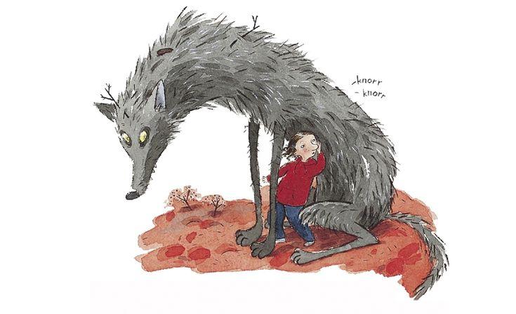 гіттан, гиттан и серые волки, дитячі книжки, пия линденбаум, пія лінденбаум, література про страх, дитячі книжки про страх, казки про вовків, букмоль, що читати дітям, книжки про хороших вовків, страх, тварини, казки дітям