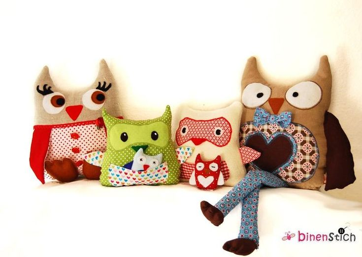 Schnittmuster Familie Eule (owl family), e-Book by Tiffy at Binenstich