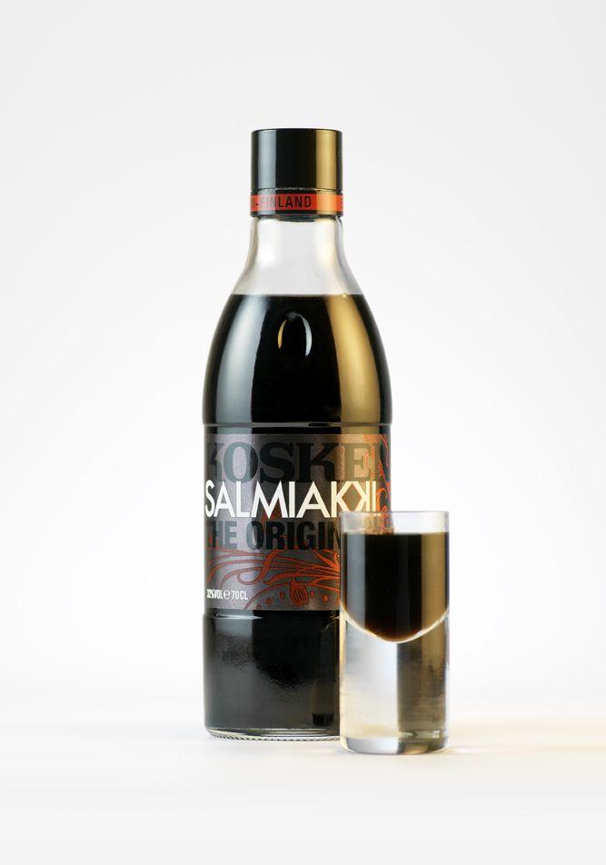 Koskenkorva Salmiakki  :) (Salt Liquorice Vodka)