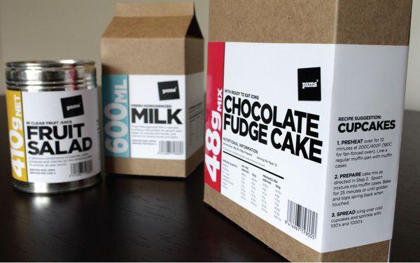 Pams Budget Range Packaging by Raewyn Brandon, via Behance
