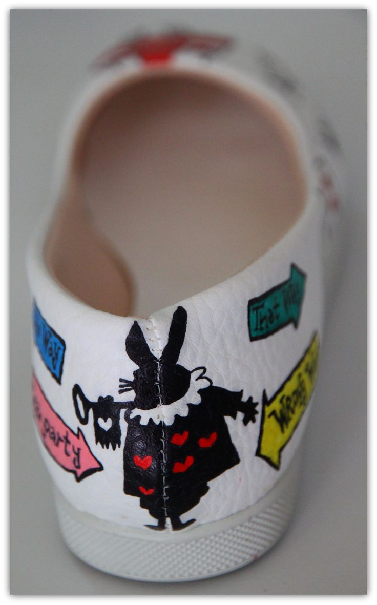Alice In Wonderland hand painted shoes by Ceren Palaz