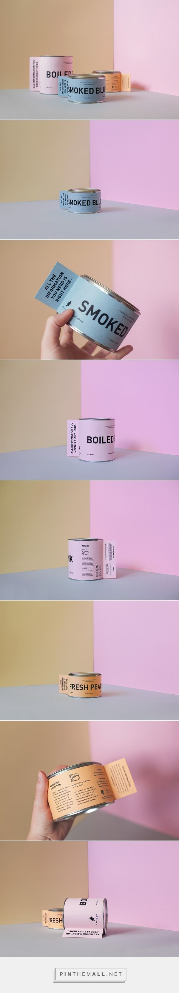 """THE NAKED UNICORN COLLECTION on Packaging Design Served   The unicorn is a breed that has been extinct for almost a 100 years, and this year a color collection is released to lift up this beautiful animal. The """"Naked Unicorn Collection"""" is a indoor color collection inspired by the beautiful unicorn meat and its gentle gradients.   Frida Borgstedt"""