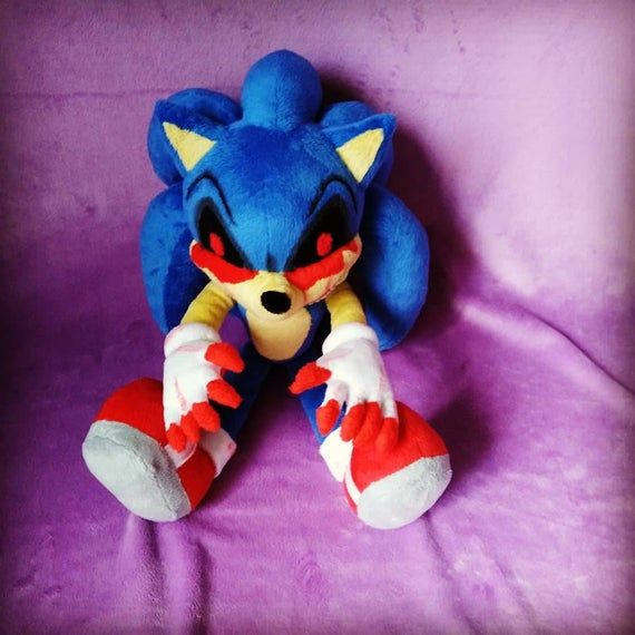 Custom Made Plush Inspired By The Sonic E X E Plush Toy To Etsy In 2020 Amazing Lego Creations Soft Toys Making Plush Toy