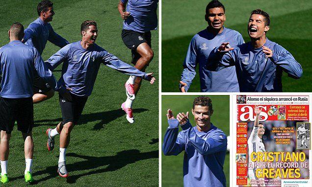 Cristiano Ronaldo needs three goals to break Jimmy Greaves' record