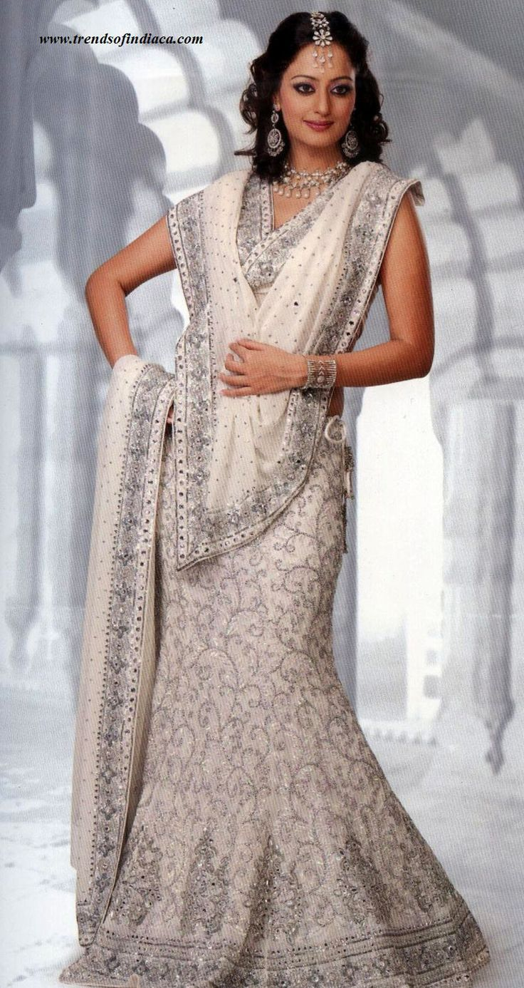 Best 25 White Saree Ideas On Pinterest