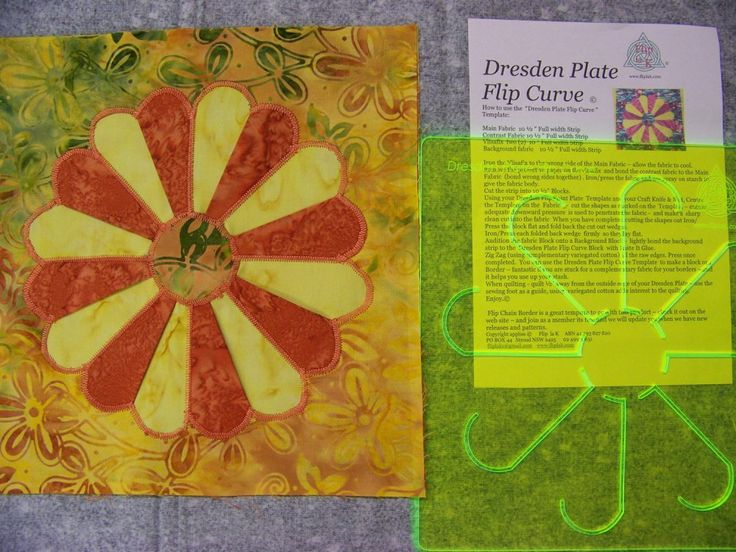 "Flip la' K Dresden Flip CurveTemplates What a fun way to take the ""A"" out of applique."