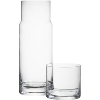 Crate&Barrel water carafe - wish this was acrylic instead of glass to keep by bedside w/o worrying about breaking.