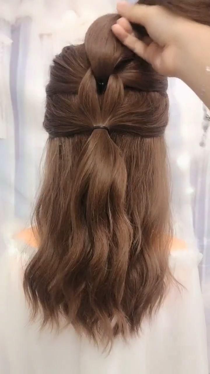 Simple And Best Hairstyle For Long Hair Simple Best Hairstyle In 2020 Beautiful Braided Hair Ponytail Hairstyles Easy Prom Hairstyles For Short Hair