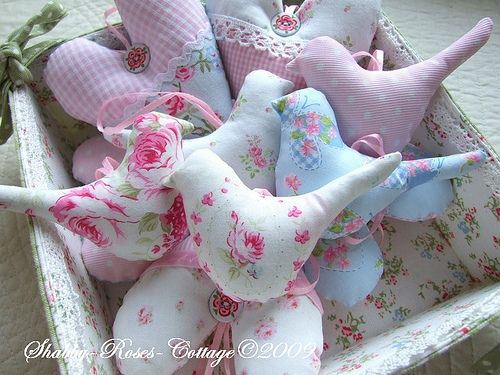 tilda birds  --- not that I could ever stick a pin in one of these cuties...