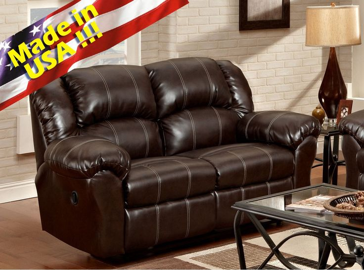 Roundhill Furniture Brandan Bonded Leather Dual Reclining Loveseat, Brown. Bonded Leather Dual Reclining Loveseat, dimension: 67 x 41 x 39 H. Built to last on hardwood frame and steel rocker base, sinuous springs are engineered to provide lasting comfort and strength. High resilience seat foam for superior durability and comfort, all joints pinned and glued for uniformity and strength. Fully assembled for your convenience. Photo May Slightly Different From Actual Item in Terms of Color…