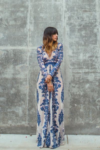 FOR LOVE & LEMONS Temecula Maxi Dress just add a camisole underneath perhaps bc that is a deep v