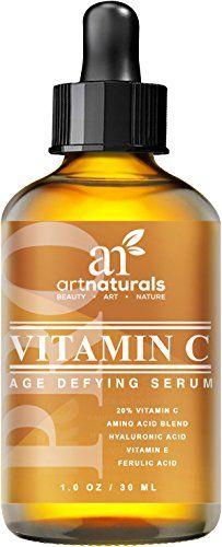 Art Naturals Sérum De Vitamine C 30 ml Amélioré Avec Acide Hyaluronique – Top Anti-Rides, Anti-Âge Et Réparations Des Cernes, Efface Les…