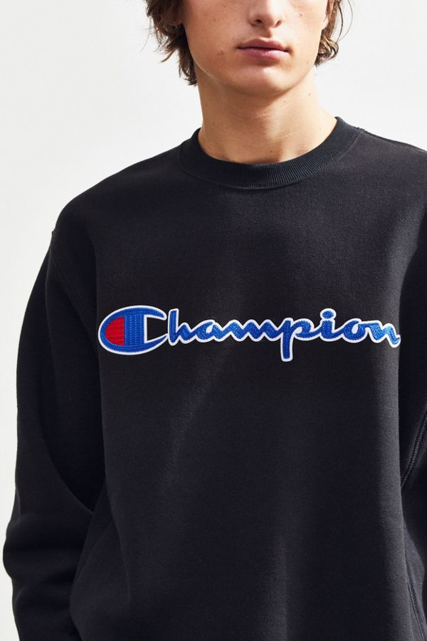 f433cb819ec8 Slide View: 2: Champion Chain Stitch Script Crew-Neck Sweatshirt ...