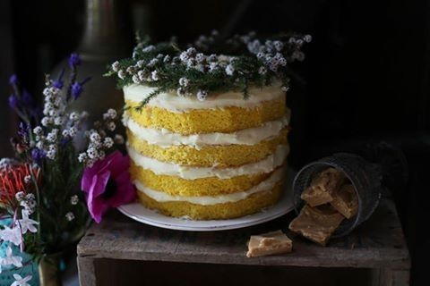 Boho cake by Nona's homemade cakes.