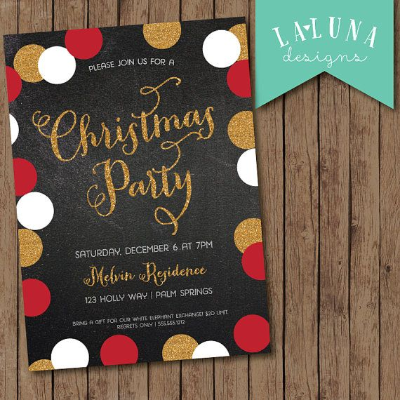 Ideas For A Work Christmas Party: Best 25+ Christmas Party Invitations Ideas On Pinterest