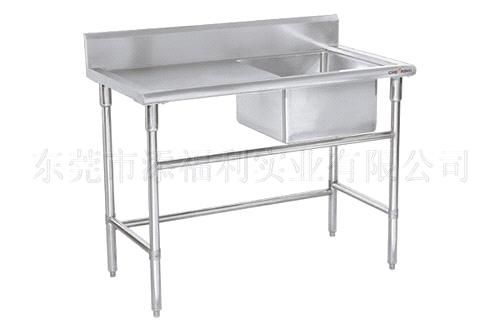 stainless steel sink table with left drainboard - China stainless steel sink table