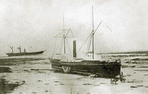 El Wateree, el Chañarcillo y el America, arrastrados por maremoto de Arica del 13 de agosto de 1868