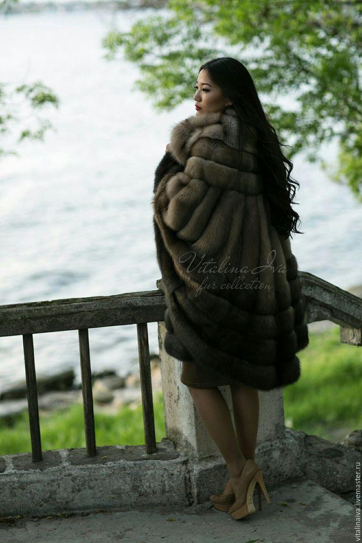 Купить Шуба-пончо из меха соболя - шуба, индивидуальный пошив, шубка, шуба из меха