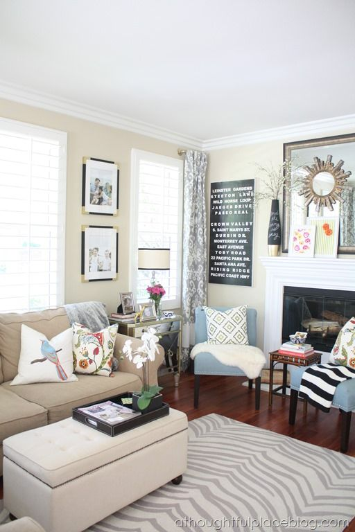 123 best living room inspiration images on pinterest for Best warm places to live with a family