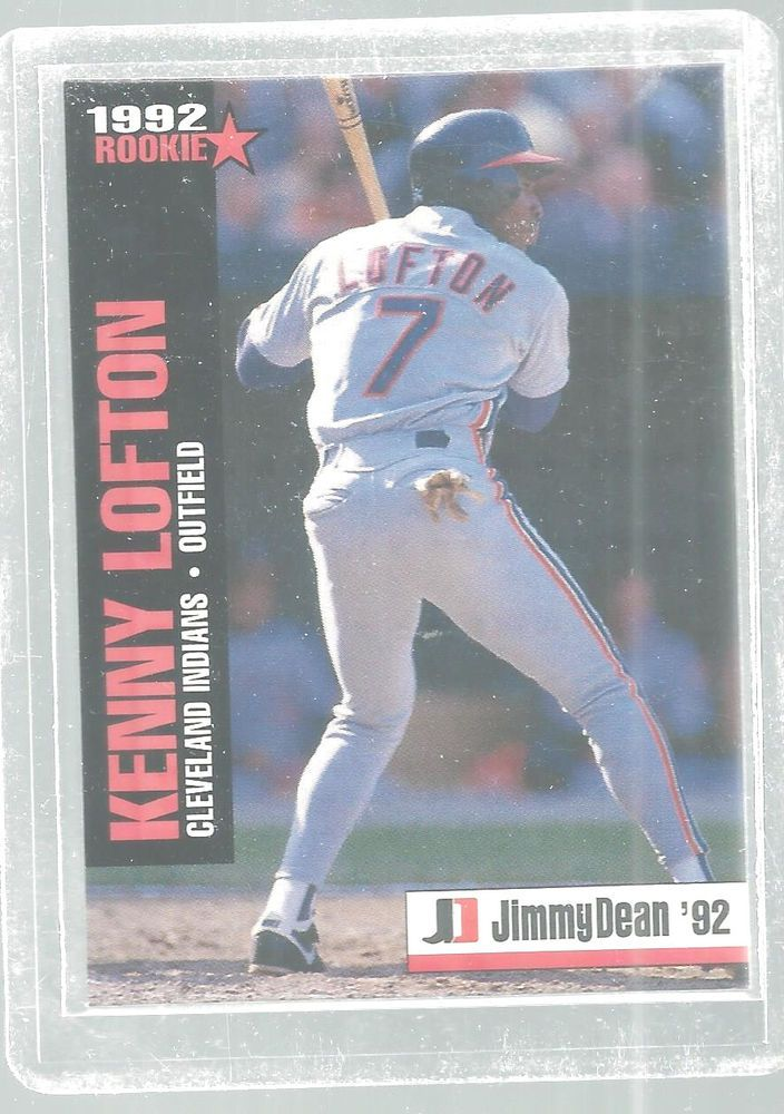 Kenny Lofton Jimmy Dean 1992 Rookie Baseball Cards Cleveland Indians #ClevelandIndians