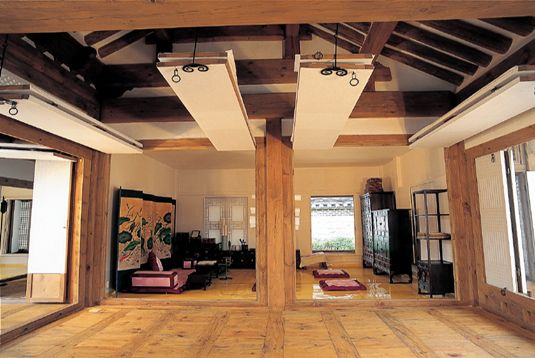 A modern, yet traditional Hanok (traditional Korean house)