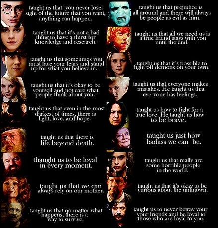 Another all time favorite movie series — Harry Potter — and the lessons we learned from watching our favorite wizards.