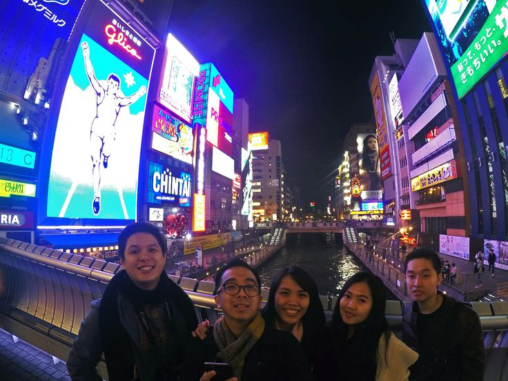 Us with the Glico running man