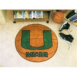 University of Miami Hurricanes Canes Basketball Floor Rug Mat