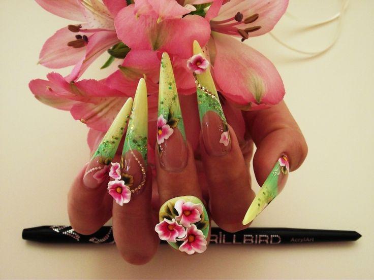 spring, nail, köröm, nagel, unghie, nailart, nailaddict, nails, fashion, mode, diva