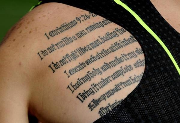 Oscar Pistorius Tattoo Inside Arm 13 best Maratho...