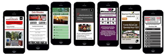 Websites, mobile websites and social marketing services, Chatham, On.