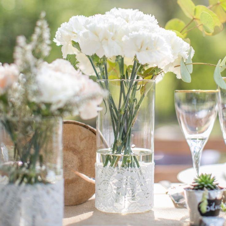 Vase en verre et dentelle style vintage grande taille : Accessoires de maison par save-your-deco