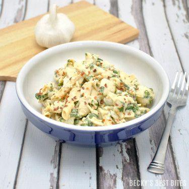 Creamy Garlic Spinach Chicken Pasta - Becky's Best Bites