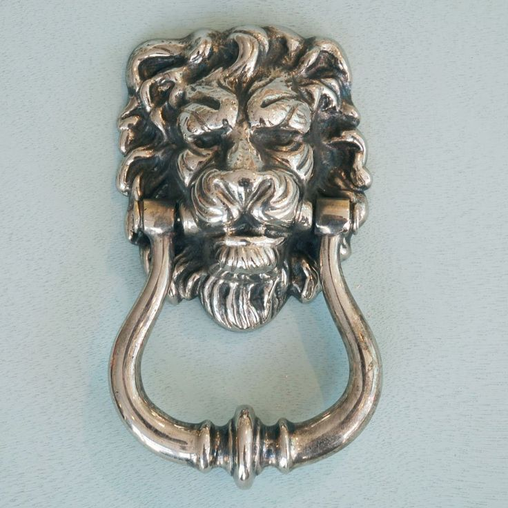 Aged Nickel Lion's Head Door Knocker fr Willow and Stone in UK. This is the  one I ended up getting to put on a new black high gloss front door - Best 25+ Lion Door Knocker Ideas On Pinterest Hint Of Duck Egg