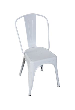 White Replica Tolix Chair High Back