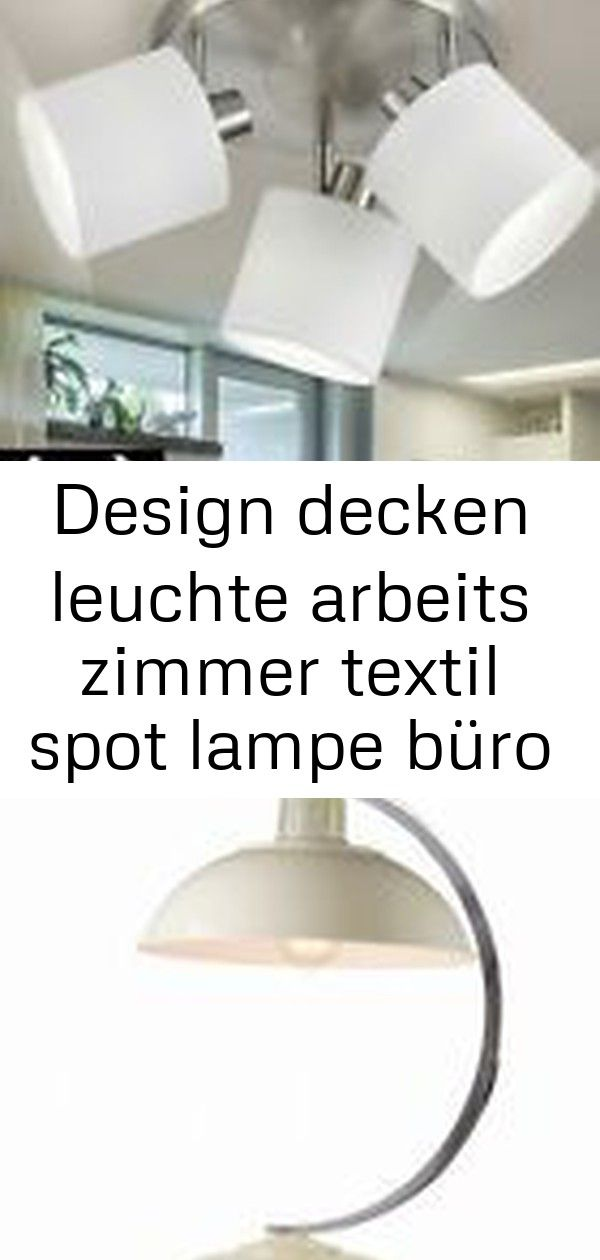 Design Decken Leuchte Arbeits Zimmer Textil Spot Lampe Buro Strahler Verstellbar 3 Stylish Table Lamps Decor Lamp