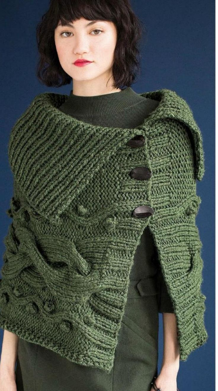 Vogue Knitting Cape Pattern : 17 Best ideas about Vogue Knitting on Pinterest Cable knitting patterns, Ca...