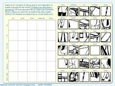 Dibujo conjugando: un cuadro de Fernando Botero (juego de conjugación - verbos irregulares). Me encanta escribir en español.