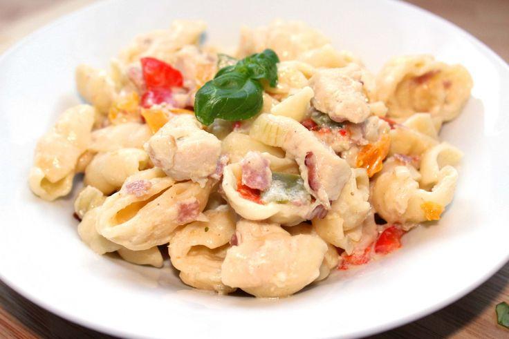 Paprikás-húsos tészta recept