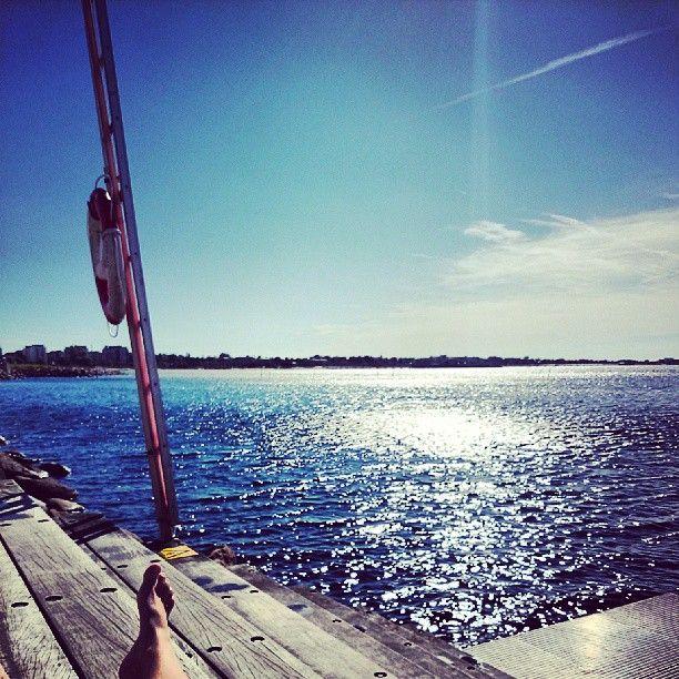 En härlig, torr strand i Malmö.