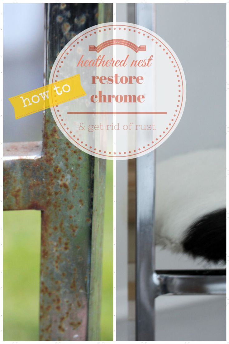 Did you know you can easily remove rust from chrome furniture??  YES YOU CAN!!  Via Heathered Nest.