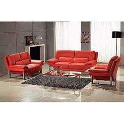 Pinterest\'teki 25\'den fazla en iyi Red leather sofas fikri