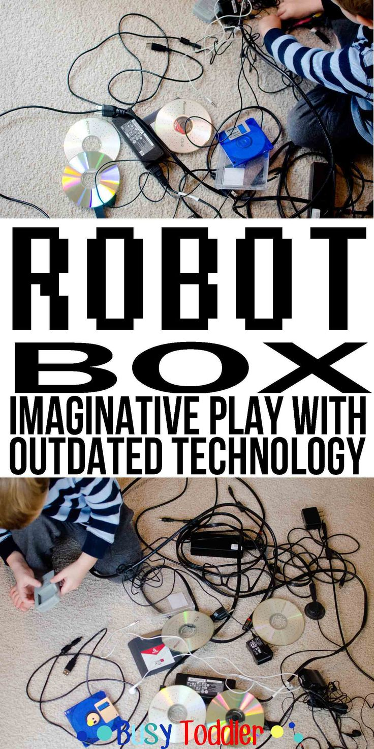 Robot Box: Imaginative play with outdated technology.