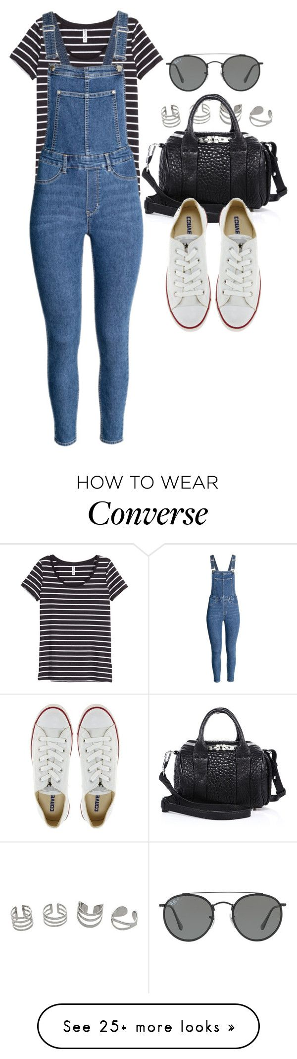 """Sin título #12127"" by vany-alvarado on Polyvore featuring H&M, Alexander Wang, Converse and Ray-Ban"